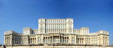 bucharest slottparlament Arkivfoto