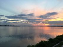 bucharest solnedgång Royaltyfri Fotografi