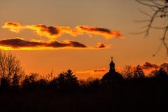 bucharest solnedgång Arkivbilder