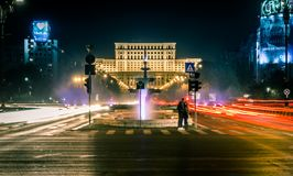 Bucharest som ses till och med linsen av en utforskare arkivbilder