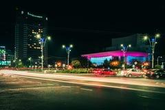 Bucharest som ses till och med linsen av en utforskare royaltyfri foto