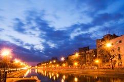 Bucharest am Sonnenuntergang stockfotografie