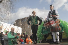 Bucharest St Patrick Parade Royalty Free Stock Images