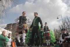 Bucharest St Patrick Parade Royalty Free Stock Photography