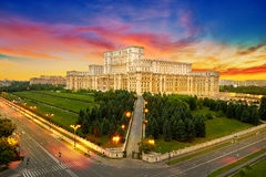 Bucharest stad i Rumänien Arkivfoton