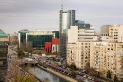 Bucharest stadssikt arkivbild
