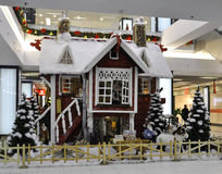 Bucharest, Stycznia 05-Christmas bajek dekoracja Zdjęcia Royalty Free