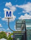 Bucharest subway sign Stock Photography