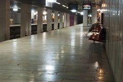Bucharest subway station interior Royalty Free Stock Photos