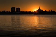 bucharest sunset Στοκ Εικόνα