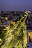 Bucharest after the sunset. Bucuresti la apus royalty free stock photography
