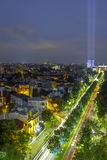 Bucharest after the sunset. Bucuresti la apus stock photos