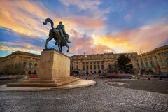 Bucharest Sunset Royalty Free Stock Images