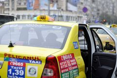 Bucharest taxi Royaltyfri Foto