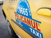 Bucharest taxi car Royalty Free Stock Photos