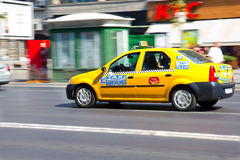 Bucharest taxi speeding Royalty Free Stock Images