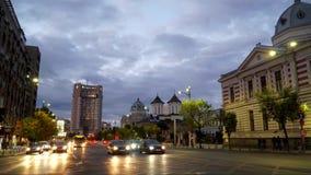Bucharest Timelapse Sunset stock video footage