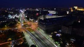Bucharest timelapse University Square, Bucharest