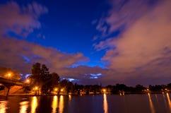Bucharest, Tineretului jezioro, park - i Zdjęcie Royalty Free