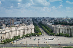 Bucharest from top Royalty Free Stock Image