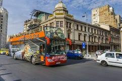 Bucharest tour bus stock images