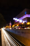 Bucharest traffic in city center by night Royalty Free Stock Photography
