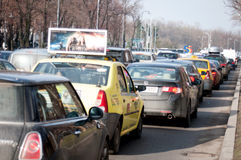 Bucharest traffic jam Stock Images