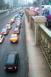 Bucharest traffic jam Royalty Free Stock Photo