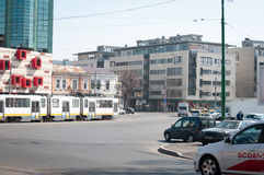 Bucharest traffic squares Royalty Free Stock Images