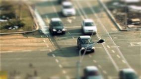 Bucharest traffic, tilt shift stock video footage