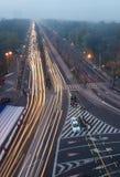 Bucharest trafik fotografering för bildbyråer