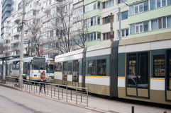 Bucharest trams Royalty Free Stock Photography
