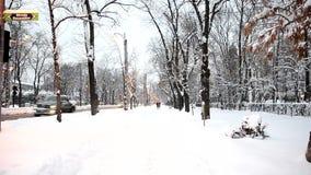 Bucharest under snow stock footage