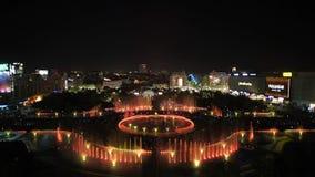 Bucharest Unirii fontanny Nowy Kwadratowy duży materiał filmowy inauguracja Apa nowa zbiory
