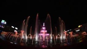 Bucharest Unirii fontanny Nowy Kwadratowy duży materiał filmowy inauguracja Apa nowa zdjęcie wideo