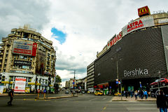 Bucharest. Unirii Square in central Bucharest, Romania Stock Photos