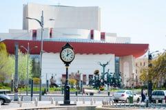 Bucharest Universitate square clock Royalty Free Stock Photo