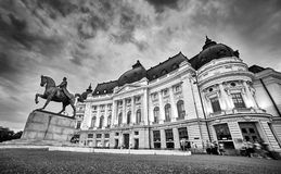 Bucharest University Library Stock Photography