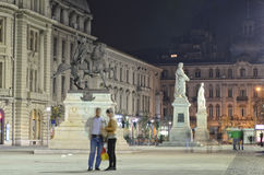 Bucharest - University Square Stock Photos
