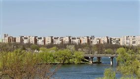 Bucharest View From Tineretului Park stock footage