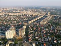 Bucharest von oben stockfotografie