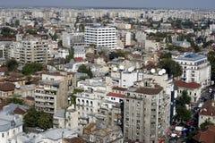 Bucharest von oben lizenzfreies stockfoto