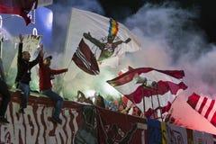 bucharest wachluje futbolowego gwałtownego Fotografia Royalty Free