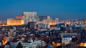 Bucharest widok z lotu ptaka Obrazy Stock