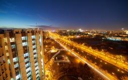 Bucharest widok z lotu ptaka Fotografia Stock