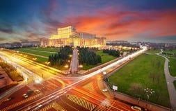 Bucharest widok z lotu ptaka Zdjęcia Royalty Free