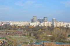 Bucharest widok z lotu ptaka od parkowego brancoveanu obraz stock