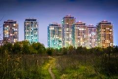 Bucharest widzieć przez obiektywu badacz Zdjęcia Stock