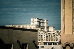Bucharest widzieć przez obiektywu badacz Obrazy Stock