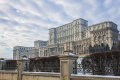 Bucharest in winter Royalty Free Stock Photography